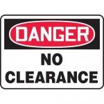 """Accuform MECR006VA, 10″ x 14″ Aluminum Sign: """"Danger No Clearance"""""""