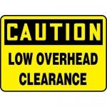 "Accuform MECR623XL, Aluma-Lite Sign ""Caution Low Overhead Clearance"""