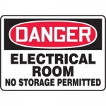 "Accuform MELC006VS, Vinyl Sign ""Electrical Room No Storage Permitted"""
