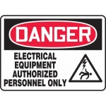 "Accuform MELC010XV, Sign ""Electrical Equipment Authorized Only"""