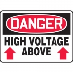 "Accuform MELC011VA, Aluminum Sign ""Danger High Voltage Above"""