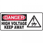 "Accuform MELC014XT, Dura-Plastic Sign ""Danger High Voltage Keep Away"""