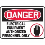 """Accuform MELC015XT, Sign """"Electrical Equipment Authorized …"""""""