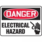 "Accuform MELC017XL, Aluma-Lite Sign ""Danger Electrical Hazard"""