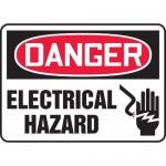 "Accuform MELC017XT, Dura-Plastic Sign ""Danger Electrical Hazard"""