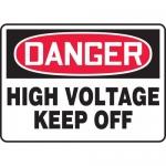 """Accuform MELC019VP, Plastic Sign """"Danger High Voltage Keep Off"""""""