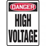 "Accuform MELC025XT, 10″ x 7″ Dura-Plastic Sign: ""Danger High Voltage"""