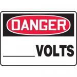 "Accuform MELC026XF, 10″ x 14″ Dura-Fiberglass Sign: ""Danger__ Volts"""