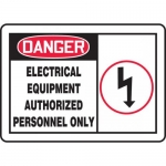 "Accuform MELC027XL, OSHA Sign ""Electrical Equipment Authorized…"""