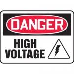 """Accuform MELC028VP, Plastic Sign """"Danger High Voltage"""" & Symbol"""