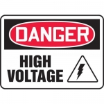 "Accuform MELC029XT, Dura-Plastic Sign ""Danger High Voltage"" & Symbol"