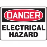 "Accuform MELC037XL, 10″ x 14″ Aluma-Lite Sign: ""Electrical Hazard"""
