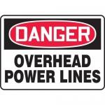 "Accuform MELC054XF, Dura-Fiberglass Sign ""Danger Overhead Power Lines"""