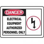 "Accuform MELC055XT, OSHA Sign ""Electrical Equipment Authorized…"""