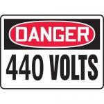 "Accuform MELC056XF, 10″ x 14″ Dura-Fiberglass Sign: ""Danger 440 Volts"""