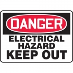 """Accuform MELC065VP, Plastic Sign """"Danger Electrical Hazard Keep Out"""""""