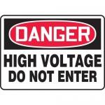 """Accuform MELC067VP, Plastic Sign """"Danger High Voltage Do Not Enter"""""""