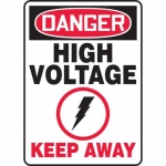 "Accuform MELC068VA, Aluminum Sign ""Danger High Voltage Keep Away"""