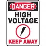 "Accuform MELC068VP, Plastic Sign ""Danger High Voltage Keep Away"""