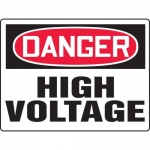 """Accuform MELC072VP, BIGSigns Plastic Sign """"Danger High Voltage"""""""