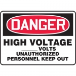 """Accuform MELC073VP, Sign """"High Voltage_Volts Unauthorized …"""""""