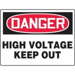 """Accuform MELC074VP, BIGSigns Plastic Sign """"High Voltage Keep Out"""""""