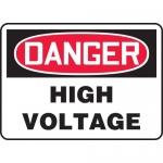 "Accuform MELC078XT, Dura-Plastic OSHA Sign ""Danger High Voltage"""