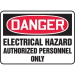 "Accuform MELC080XL, Sign ""Electrical Hazard Authorized Personnel Only"""