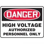 "Accuform MELC081VA, Sign ""High Voltage Authorized Personnel Only"""