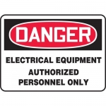 "Accuform MELC084XL, Sign ""Electrical Equipment Authorized …"""