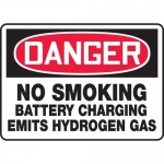 "Accuform MELC096VA, Sign ""No Smoking Battery Charging Emits …"""