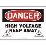 "Accuform MELC100XT, Dura-Plastic Sign ""Danger High Voltage Keep Away"""