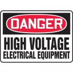 """Accuform MELC104XT, Sign """"Danger High Voltage Electrical Equipment"""""""
