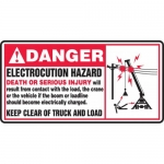 "Accuform MELC105XT, Dura-Plastic Sign ""Danger Electrocution Hazard"""