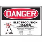 "Accuform MELC106XT, Sign ""Electrocution Hazard Death or Serious …"""