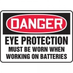 """Accuform MELC110VS, Sign """"Eye Protection Must Be Worn When Working…"""""""