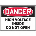 """Accuform MELC117VP, Sign """"Danger High Voltage Inside Do Not Open"""""""