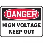 "Accuform MELC129VP, Plastic Sign ""Danger High Voltage Keep Out"""