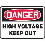 "Accuform MELC129XT, Dura-Plastic Sign ""Danger High Voltage Keep Out"""