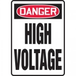 "Accuform MELC137VS, Adhesive Vinyl Sign ""Danger High Voltage"""