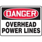 "Accuform MELC147XP, Accu-Shield Sign ""Danger Overhead Power Lines"""