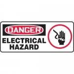 "Accuform MELC150XL, Sign ""Danger Electrical Hazard"" & Symbol"