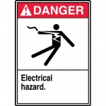 "Accuform MELC151XL, Aluma-Lite Sign with Legend ""Electrical Hazard"""