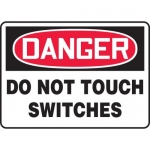 """Accuform MELC160XT, Dura-Plastic Sign """"Danger Do Not Touch Switches"""""""