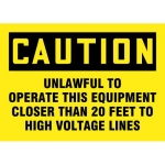 """Accuform MELC161VP, Sign """"Unlawful to Operate This Equipment…"""""""