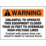 """Accuform MELC173XF, ANSI Sign """"Unlawful to Operate This Equipment…"""""""
