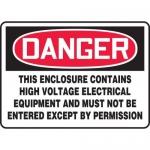 "Accuform MELC174XT, Sign ""This Enclosure Contains High Voltage…"""