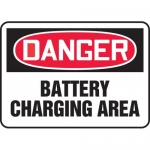 "Accuform MELC175XL, Aluma-Lite Sign ""Danger Battery Charging Area"""