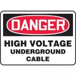 "Accuform MELC180VP, Sign ""Danger High Voltage Underground Cable"""