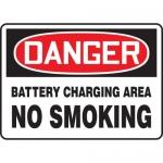 "Accuform MELC191VA, Sign ""Danger Battery Charging Area No Smoking"""